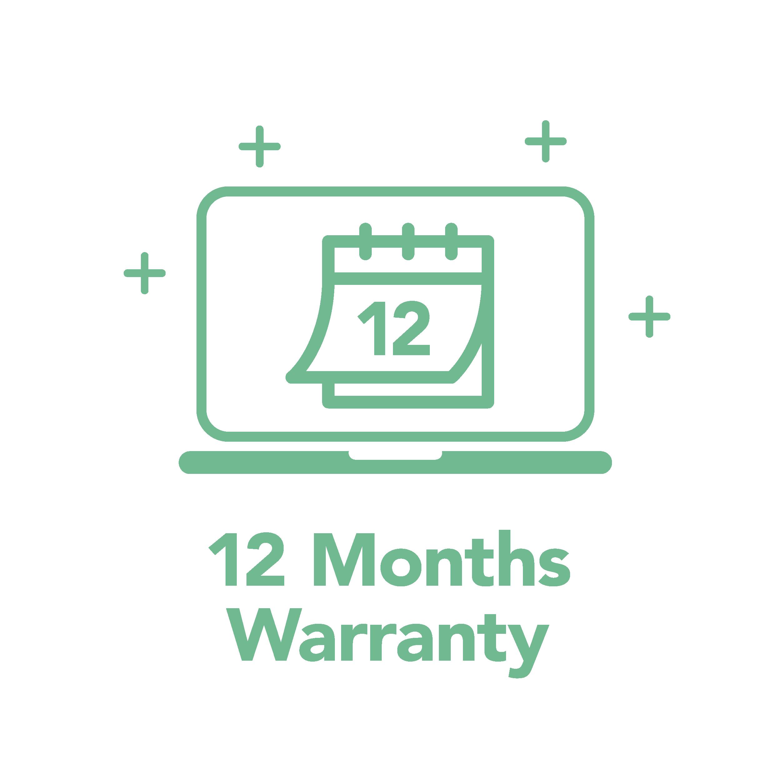 Free 12 Month Warranty
